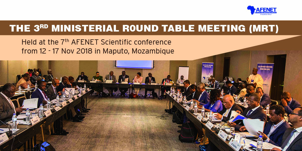 African Ministers of Health at the 3rd Ministerial Round Table (MRT), held at the 7th AFENET Scientific Conference, 11 – 17 November, 2018 in Maputo, Mozambique