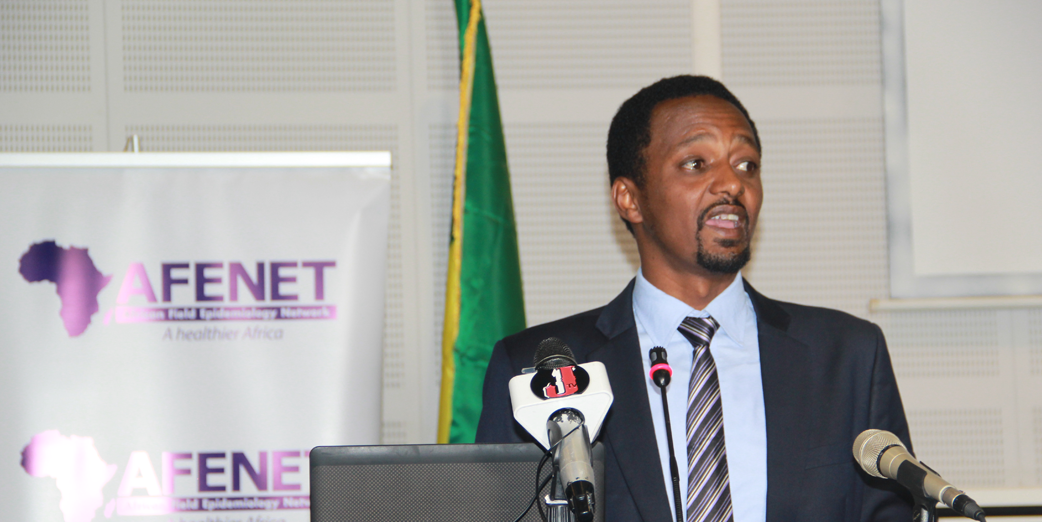 Dr. Tatek Bogale Anbessie, Regional Technical Coordinator(Horn of Africa) addressing Participants during the opening ceremony of the 2nd Annual Ethiopian FELTP Scientific Conference