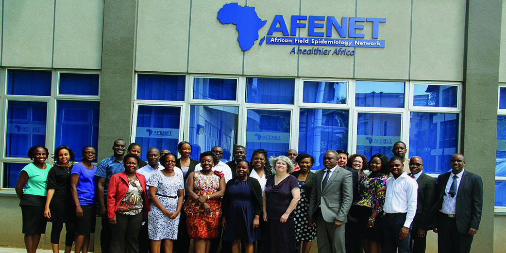 Participants at the African Field Epidemiology Network (AFENET) - Global Immunization Division (GID), Centers for Disease Control and Prevention (CDC), site visit to the AFENET Offices from 28 – 30 November 2018 in Kampala, Uganda.