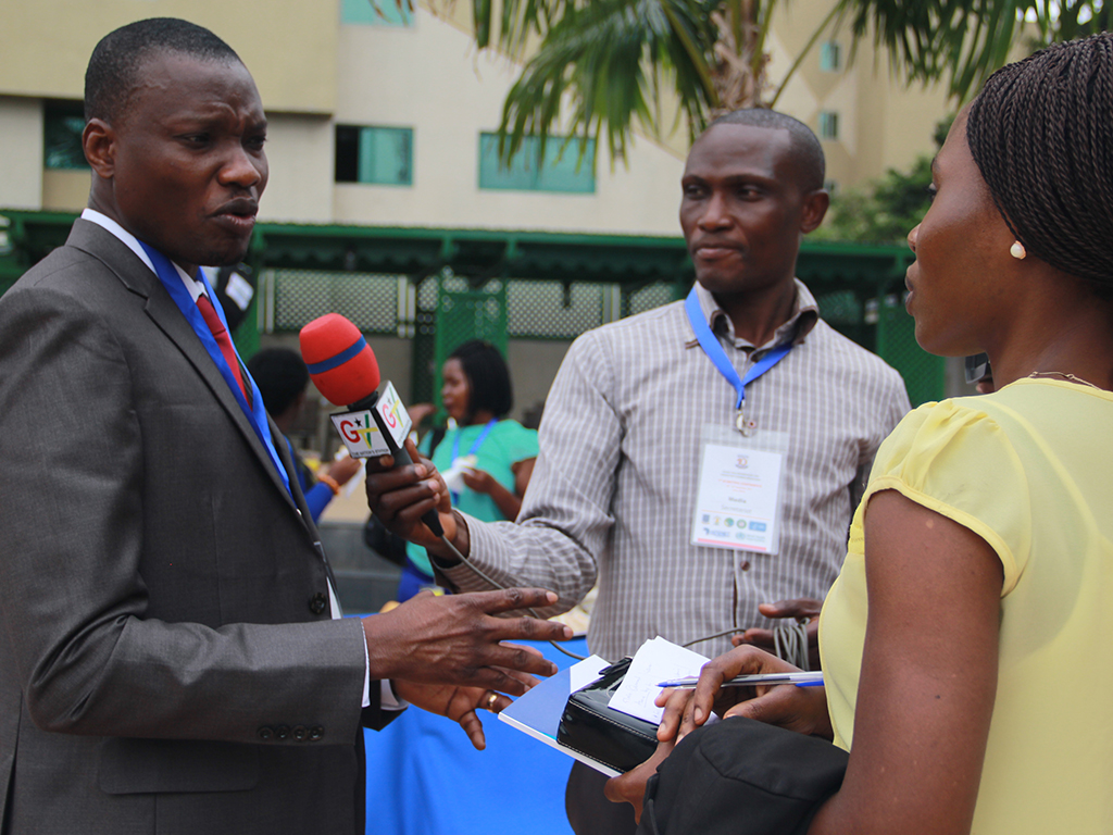 Dr. Ernest Kenu addressing media at the Ghana FELTP Conference