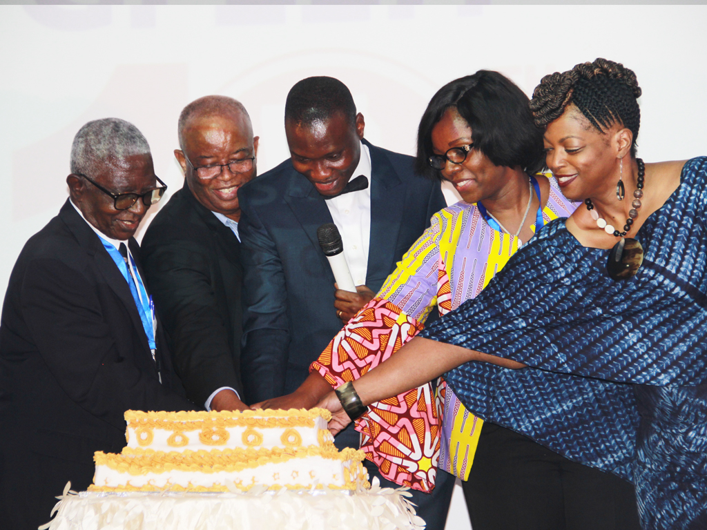 Cutting the cake at the Ghana FELTP 10th Anniversary celebration 20 September 2017