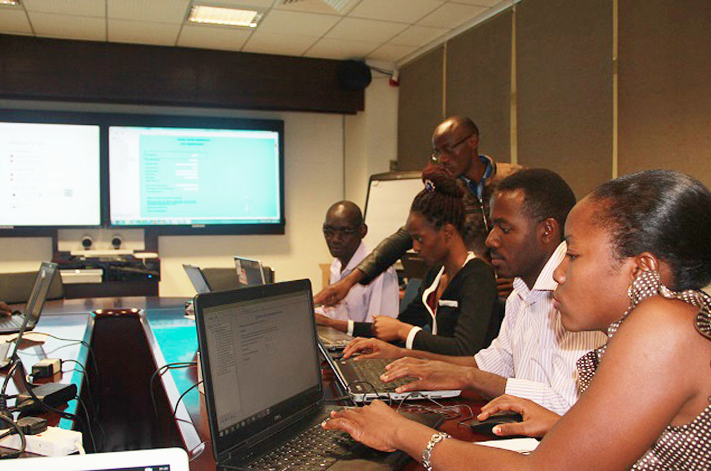 Health Workers trained on Data Entry for upcoming Save Mothers Give Life Summative Evaluation