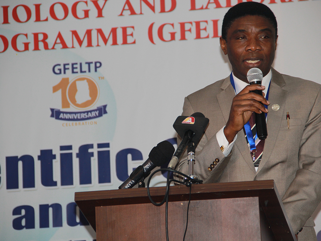 Dr. Chima Ohuabunwo making remarks at the opening ceremony of the 1st GFELTP Scientific Conference and 10th Anniversary Celebration