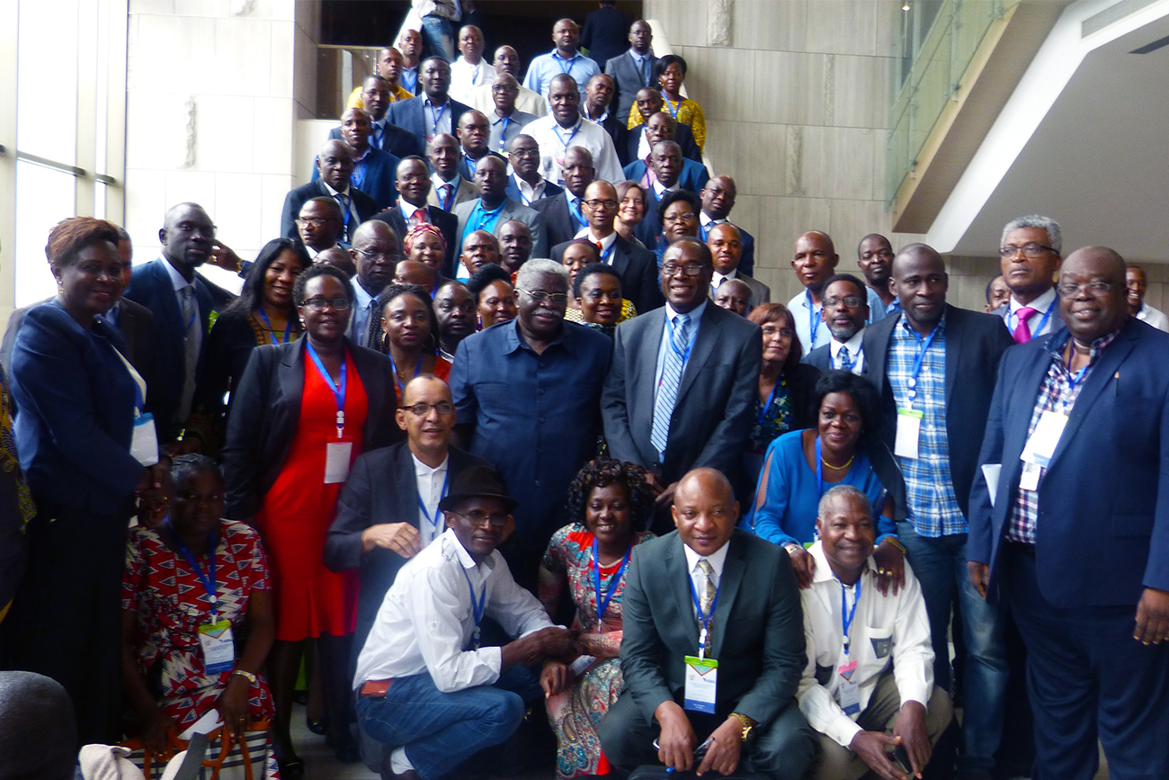 Participants at the 1st AFENET Francophone Regional Conference in Kinshasa, DRC