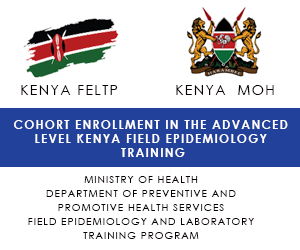 COHORT ENROLLMENT IN THE ADVANCED LEVEL KENYA FIELD EPIDEMIOLOGY TRAINING